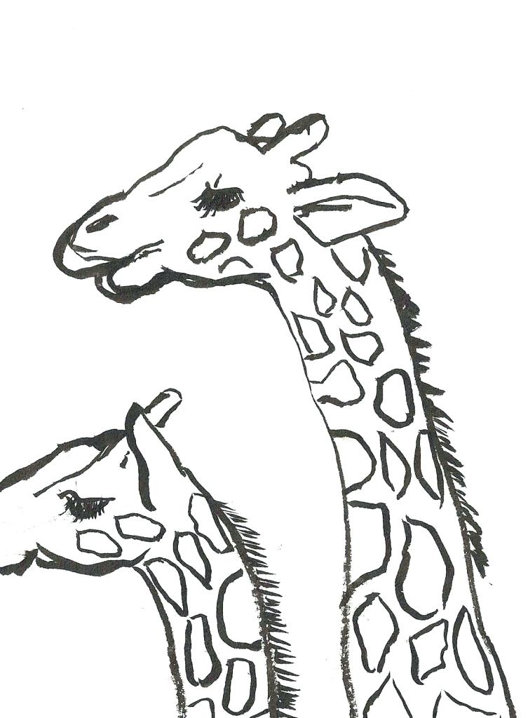 753x1024 Baby Giraffe Pictures To Color Baby Giraffe Drawing Free Printable