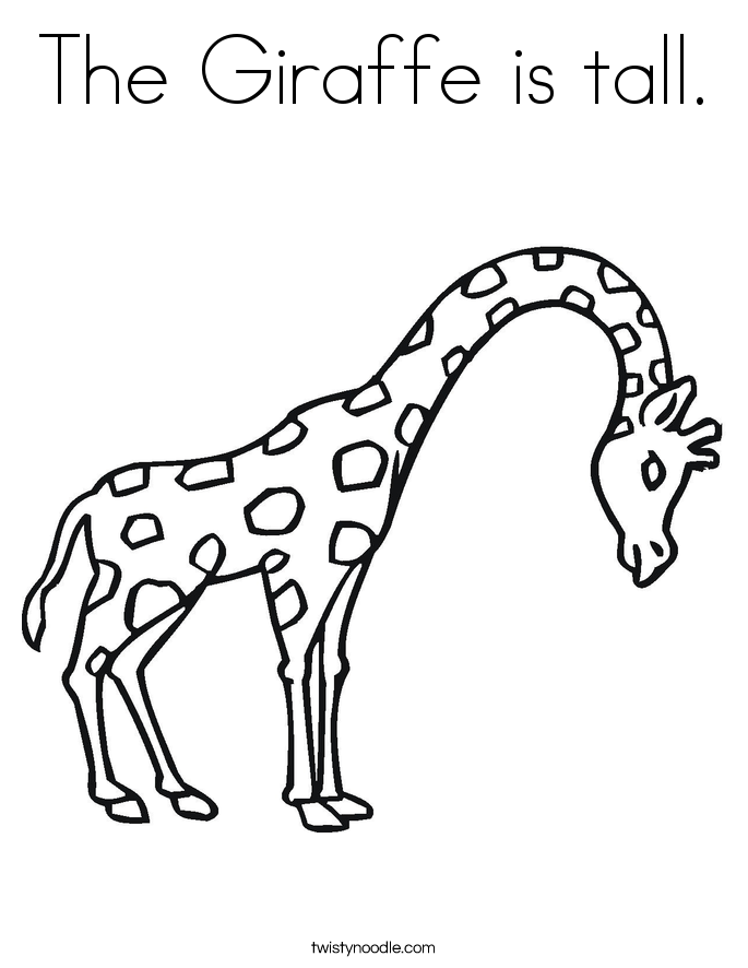 685x886 The Giraffe Is Tall Coloring Page