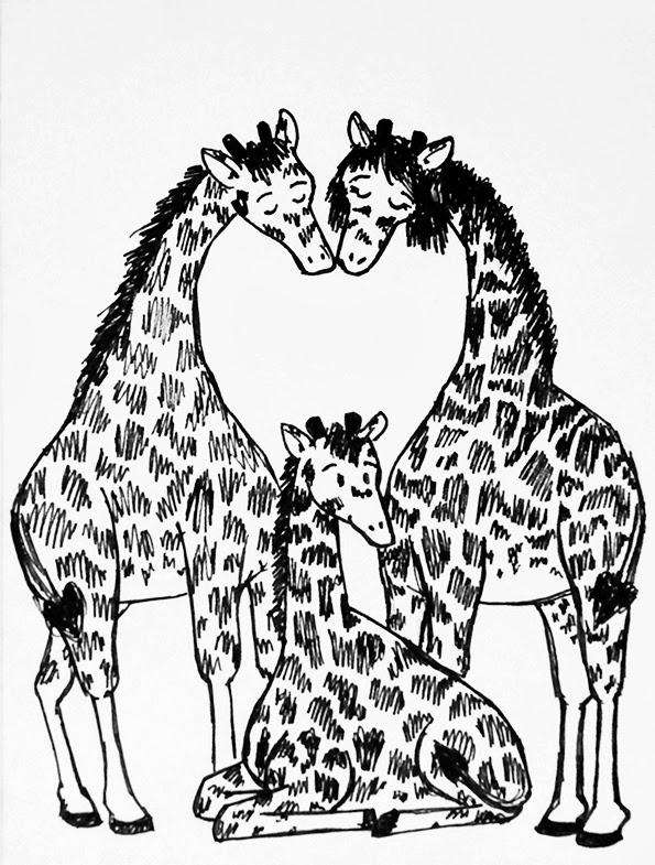 595x785 The Rogue Doodler Giraffes!
