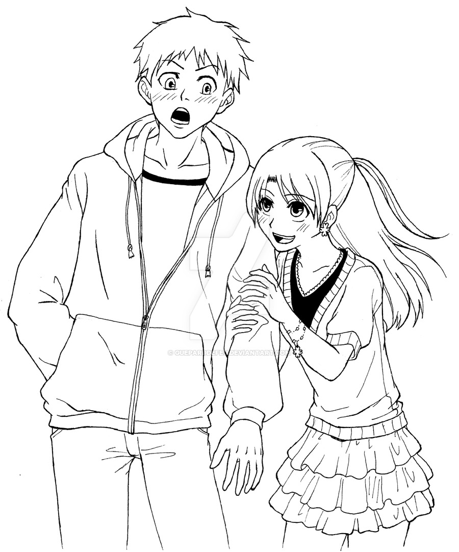 Girl And Boy Drawing at GetDrawings.com | Free for personal use Girl ...