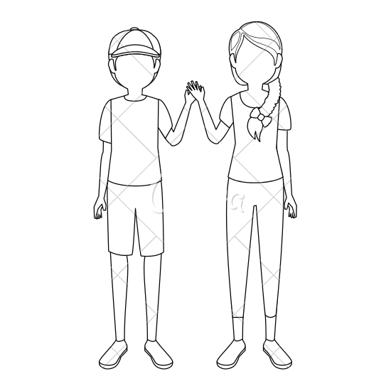 550x550 Boy And Girl Holding Hands Icon