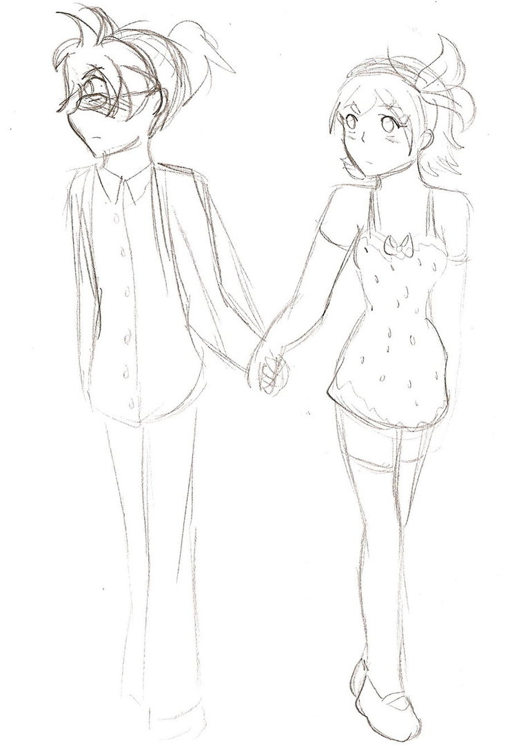 737x1084 Drawing Of Girl Holding Hand Sketches Of Girl With Boy Holding