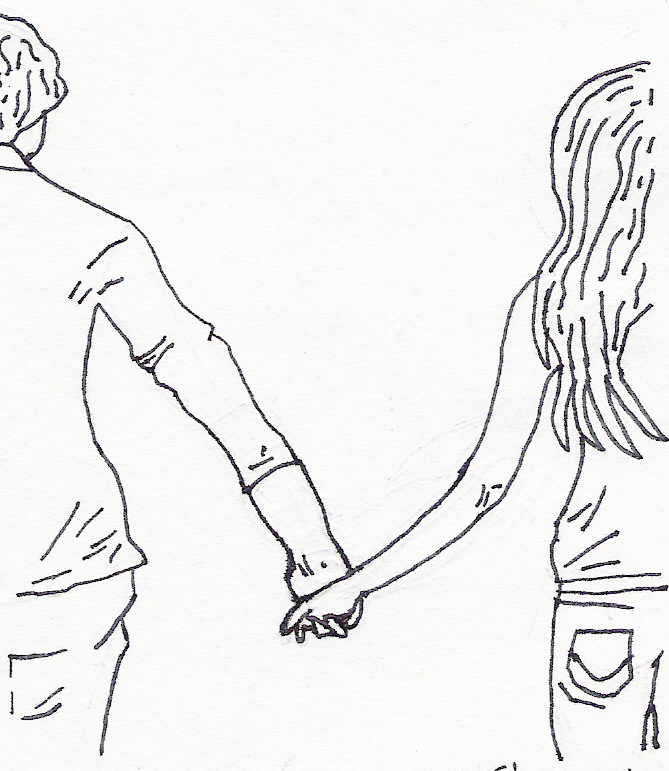 669x771 Couple Breast Friends Body Positions Holding Hands How To Draw