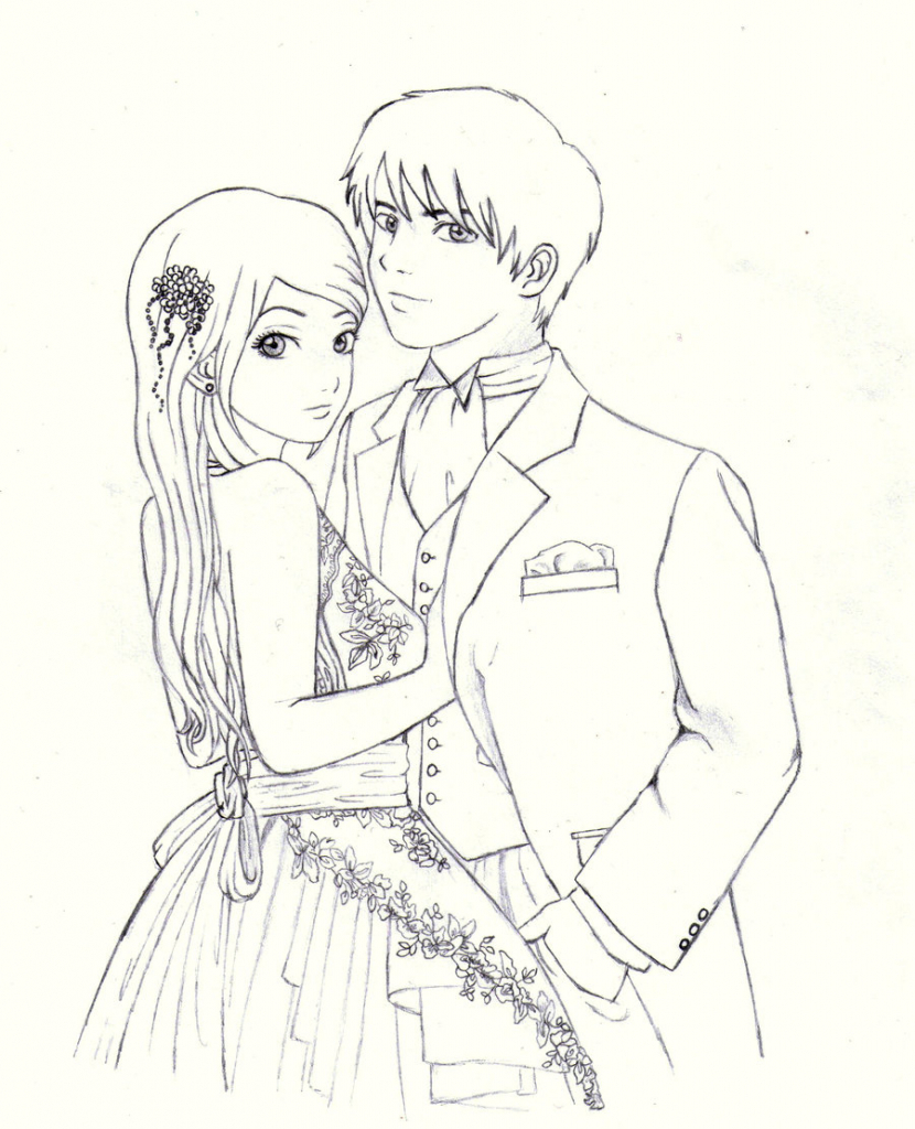 830x1024 Cartoon Drawings Of People In Love How To Draw A Boy And Girl