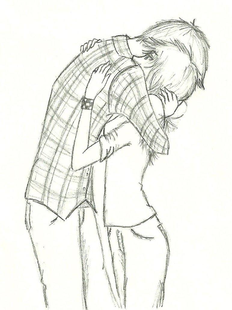 772x1034 Boy And Girl Hugging Drawing Drawn Hug Boy Kiss