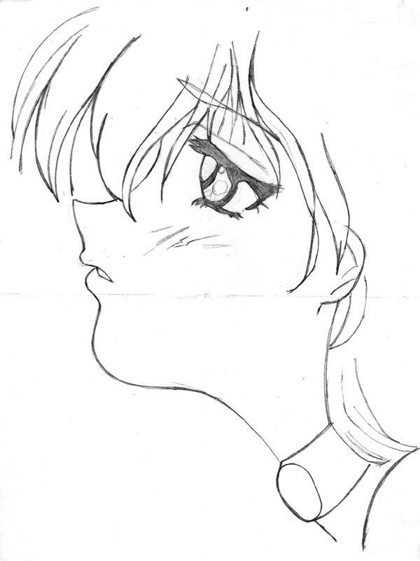 600x800 Sad Anime Girl Drawing By Everydaystar