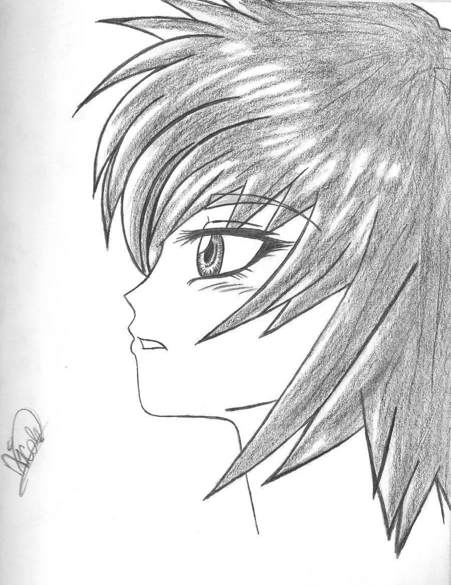 900x1166 Anime Drawing Girls Anime Drawings Anime Girl Drawing In Profile