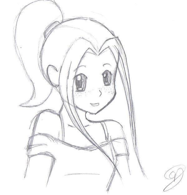 600x624 Anime Girl By Vampireselene13