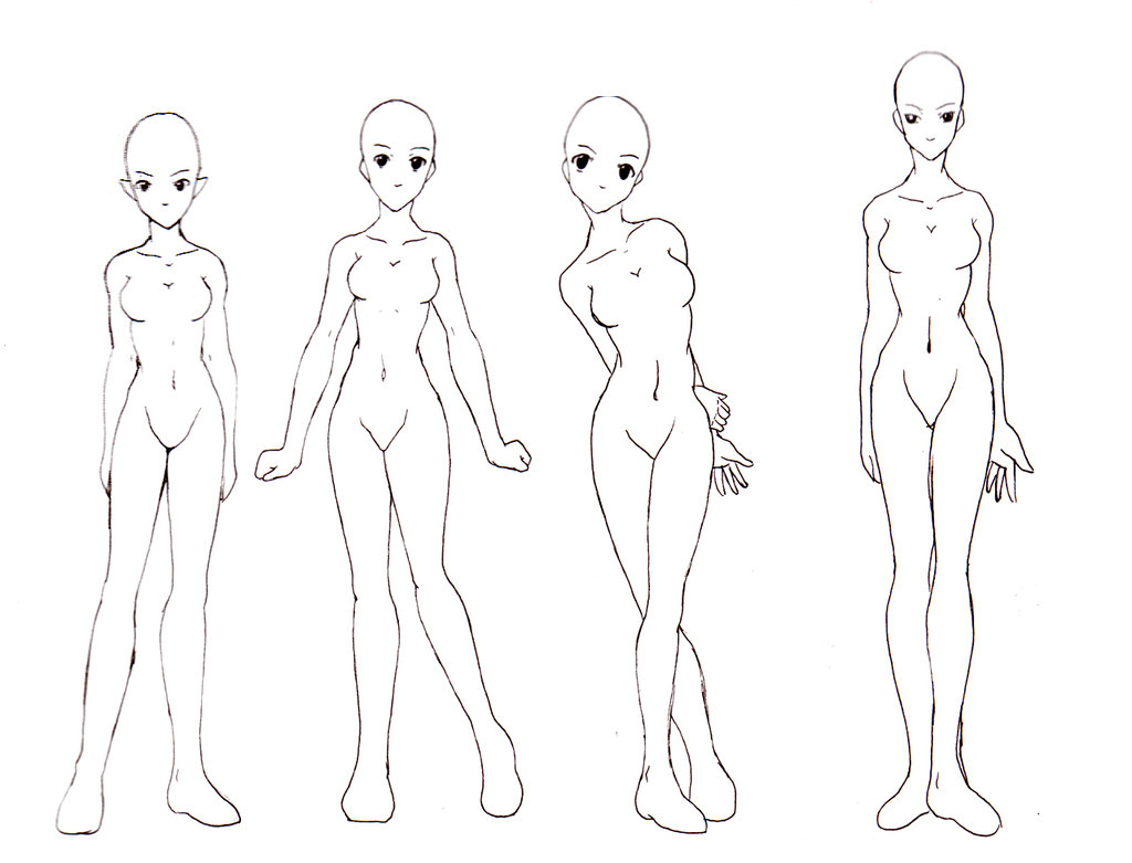 1024x781 Female Anime Drawing Drawing Anime Girl Body How I Draw The Female