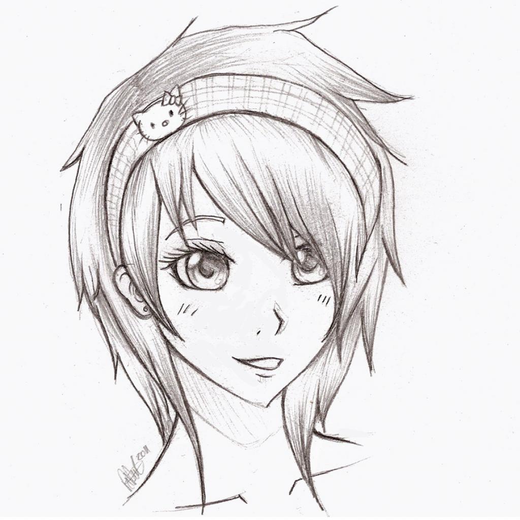 1024x1024 Sketches Of Cute Girl Sketches Of Cute Girl Sketch Cute Girl