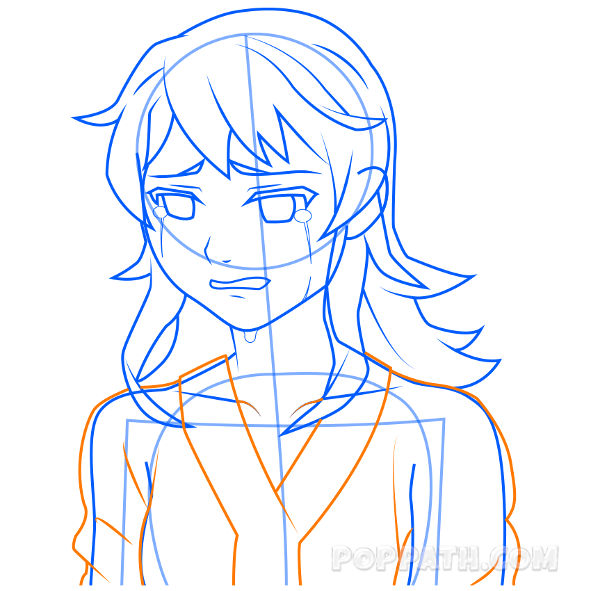 850x850 How To Draw A Crying Girl Pop Path