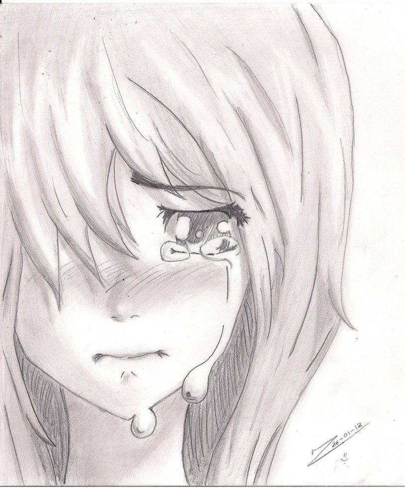 814x981 Sad Girl Crying Drawing Face Crying Cartoon Girl Face Drawing