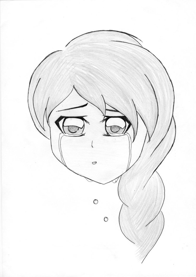 752x1063 Crying Anime Girl By Pratistha05