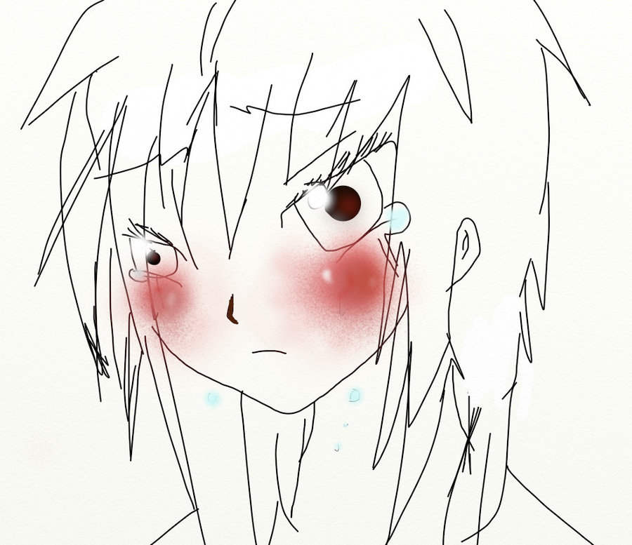 900x777 Anime Girl Crying By Shootingstar1213