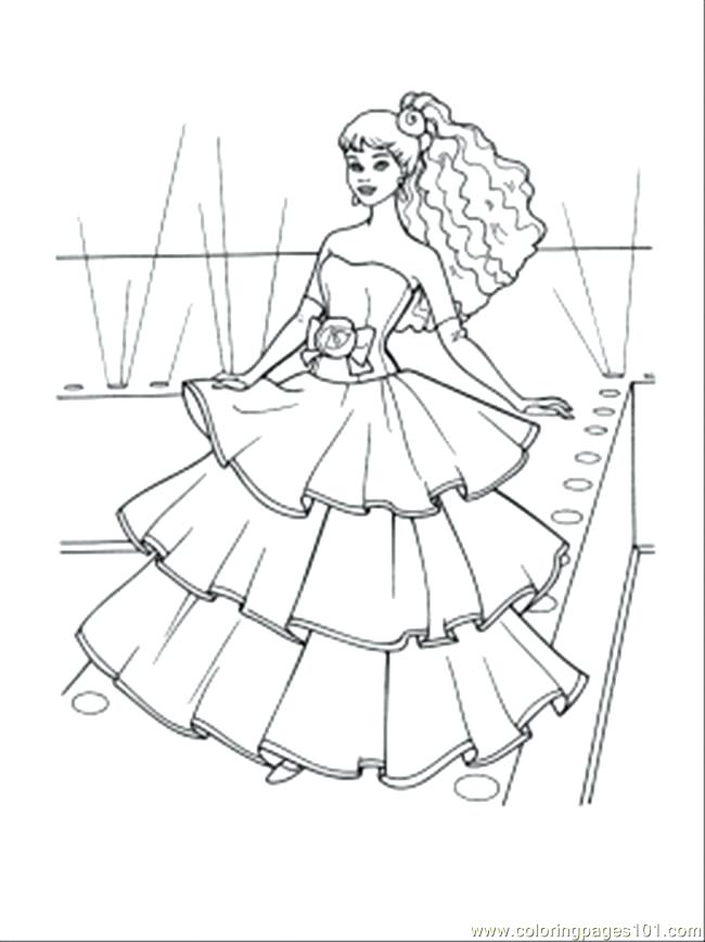 650x868 Dress Coloring Pages Little Girl Dress Coloring Page Wedding Dress