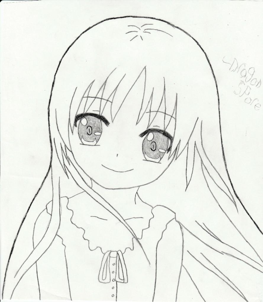 889x1024 Cute Anime Girl Drawing Cute Anime Girl Drawings I Draw A Cute