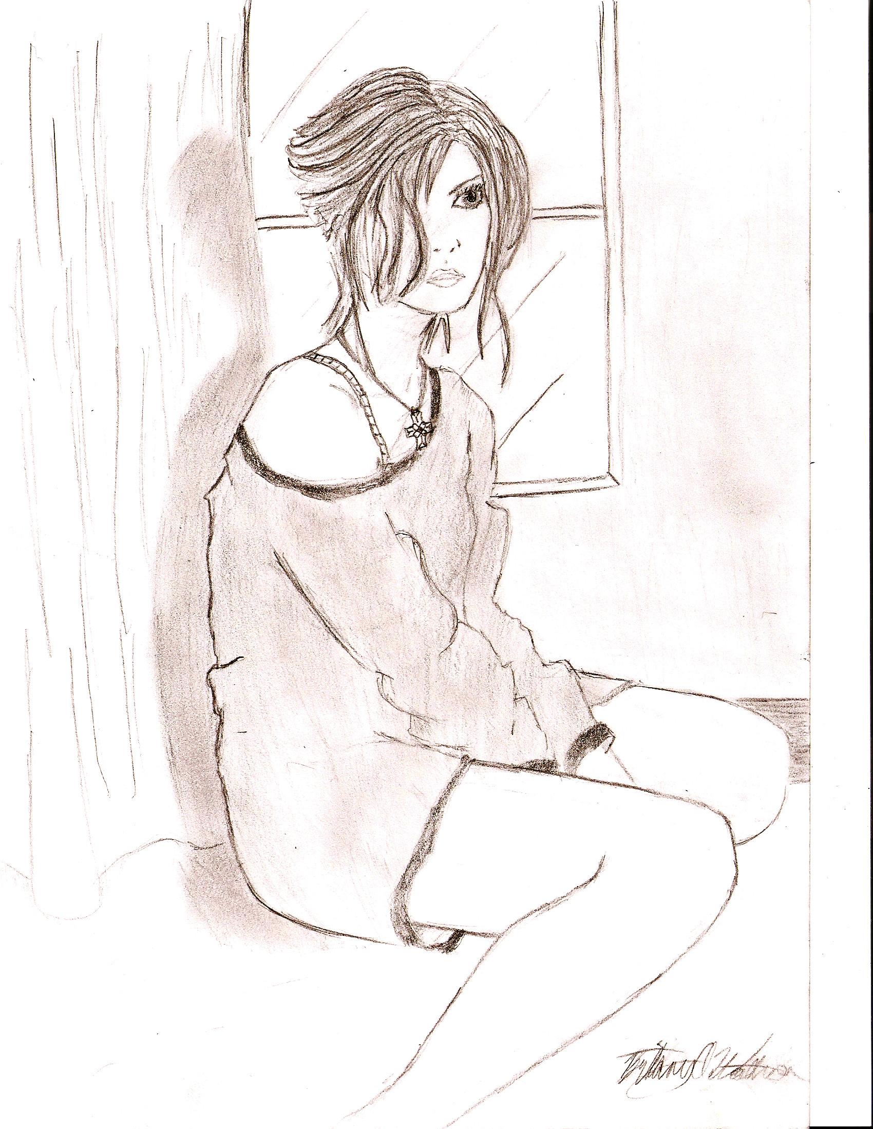 1700x2198 Alone Sad Girl Drawing Alone Sad Girl Sketch Sad Alone Girl