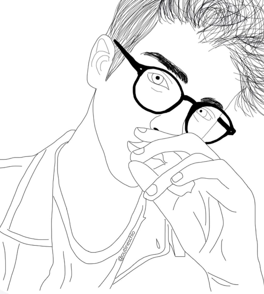 How To Line Drawing Tumblr : Girl drawing outline at getdrawings free for