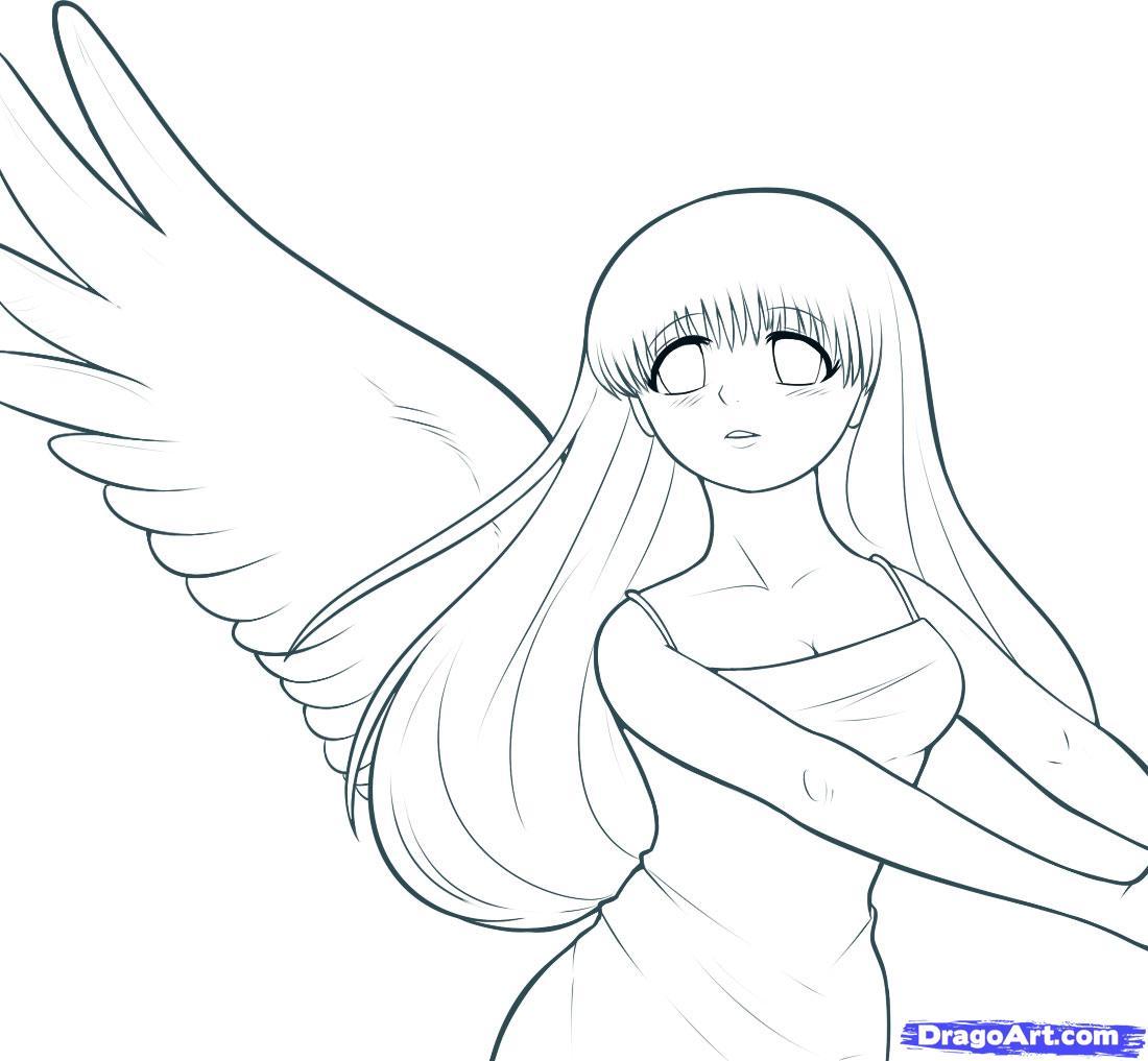 1100x1017 Drawn Anime Line Drawing