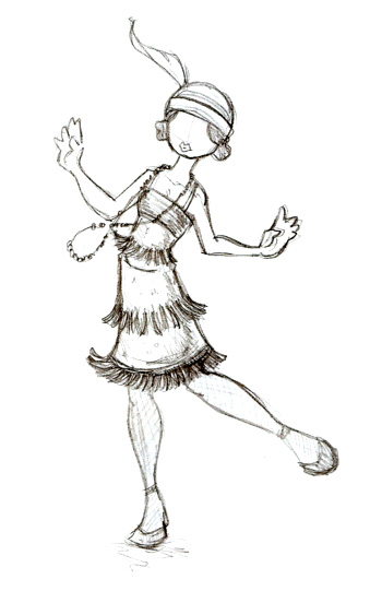339x541 Flapper Girl Starmasayume On How To Draw A Flapper