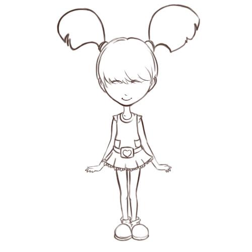 500x500 Gallery Draw Girls Cartoon,