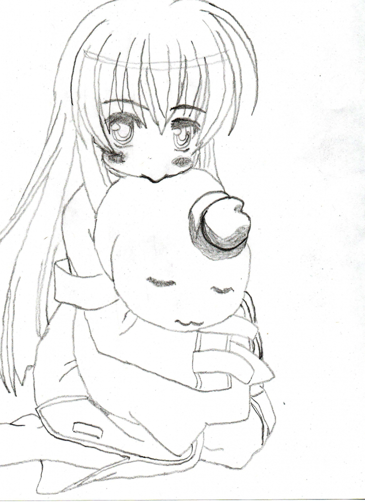 745x1024 Anime Female Drawing