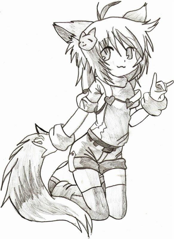 583x800 My Drawing Cat Girl By Srtagiuu