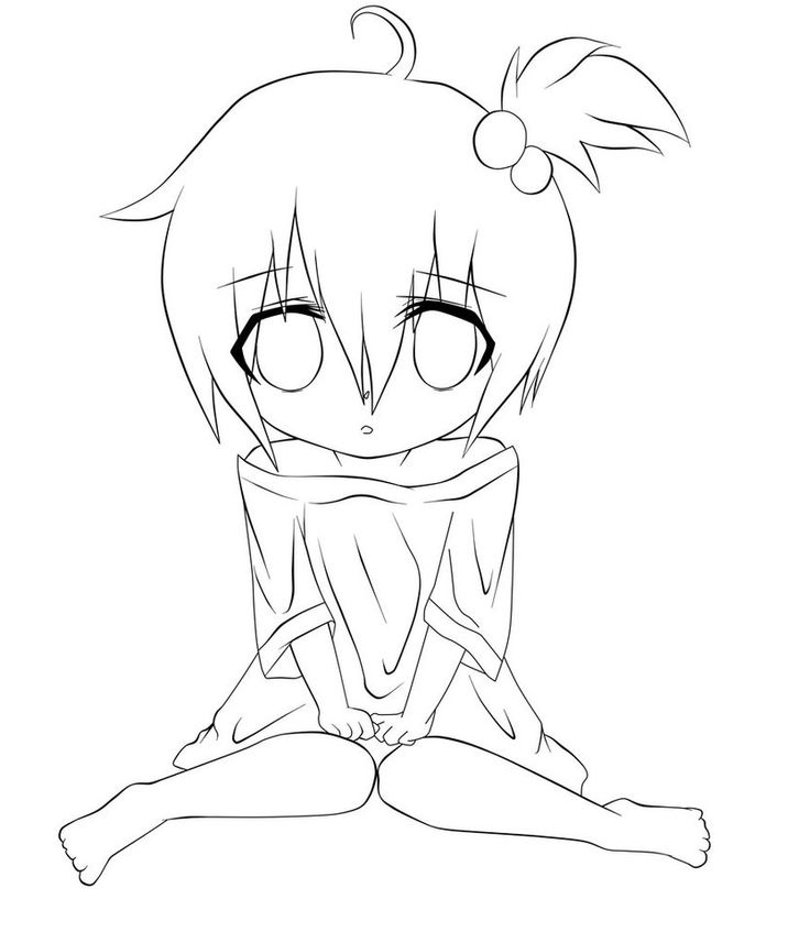 736x847 Pictures Anime Line Art Girl Drawing,
