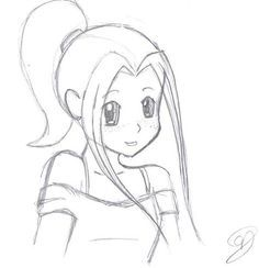 Girl Drawing Simple At Getdrawings Com Free For Personal