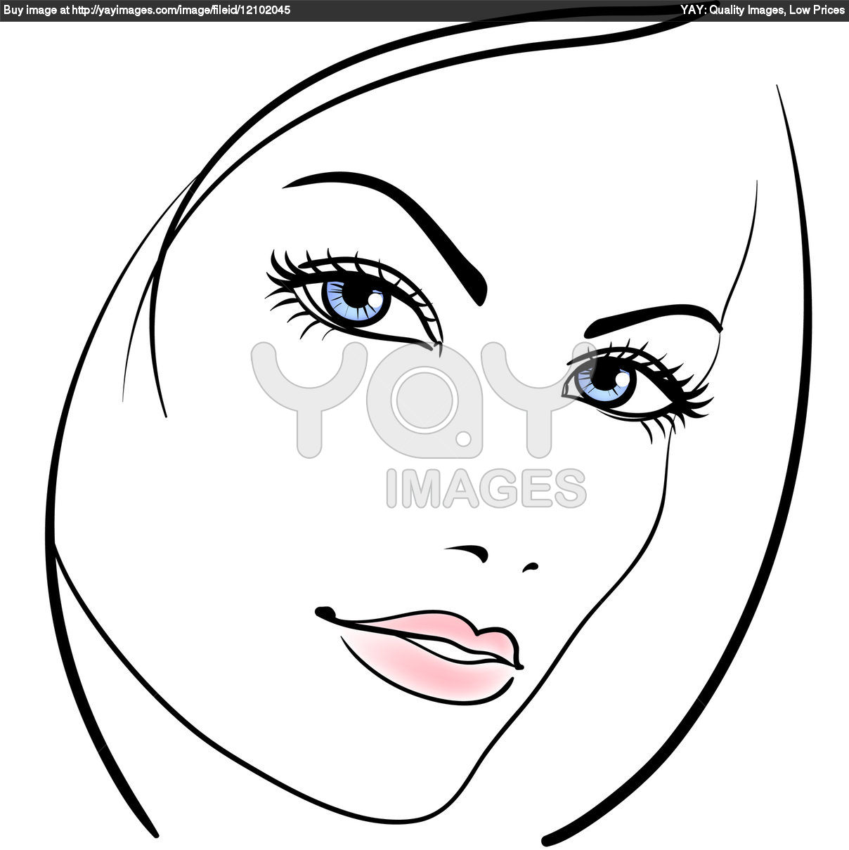 1208x1210 Easy Girl Face Side Drawing