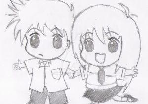 300x210 Anime Boy And Girl Drawing Boy And Girl Anime Kissing