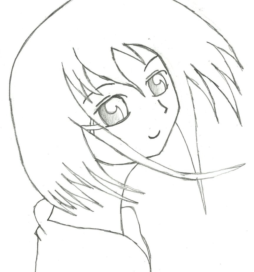 863x926 Simple Cartoon Girl Drawing How To Draw A Pretty Girl Cartoon