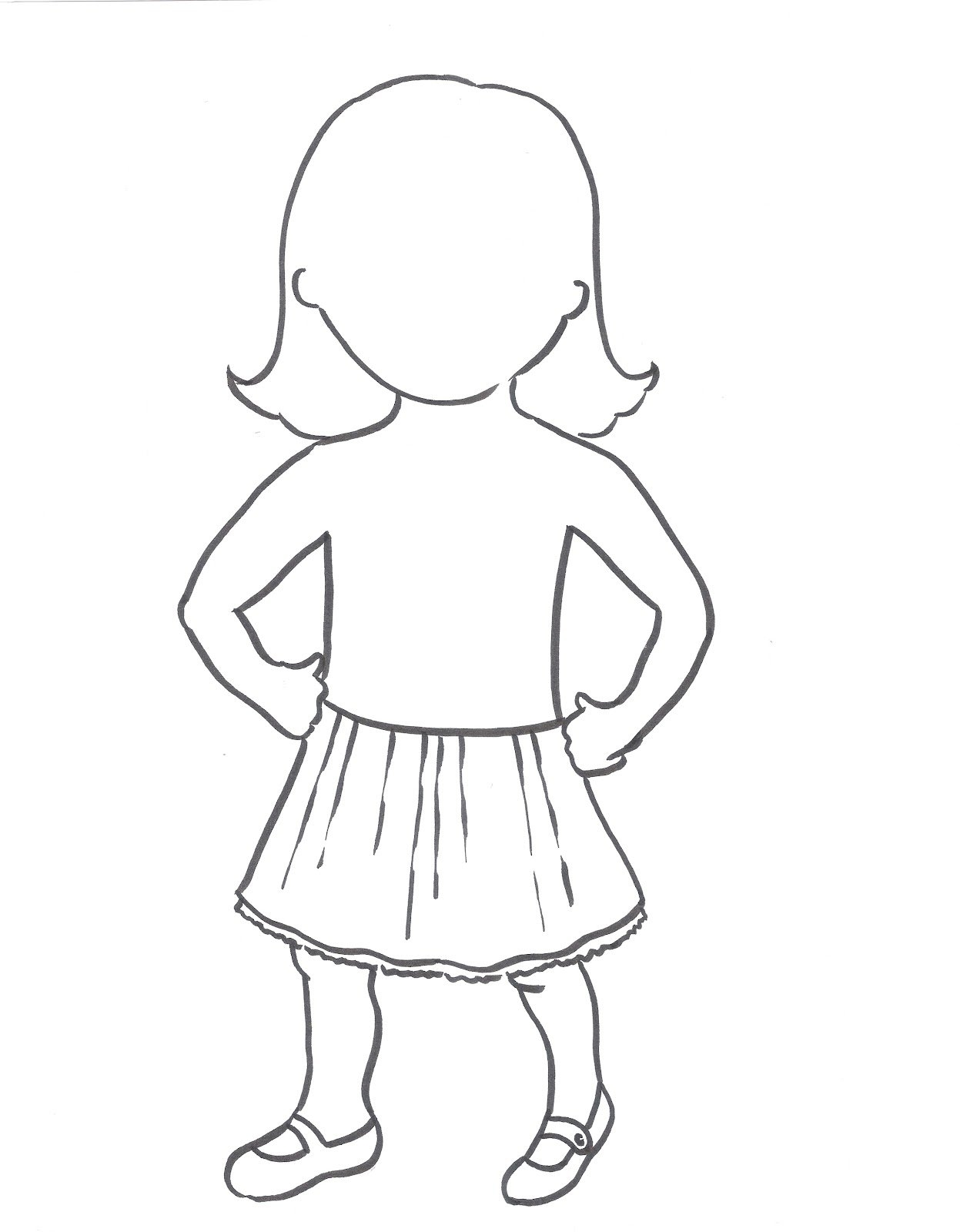Outline Of A Girl Template Vatozozdevelopment