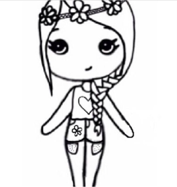 Girl drawing template at getdrawings free for personal use 605x642 flower child chibi drawings and art pinterest flower maxwellsz