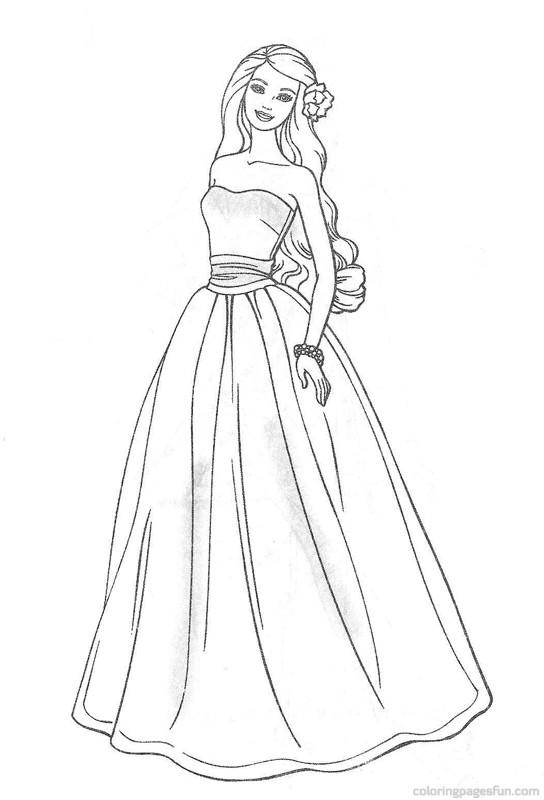 544x800 Drawn Gown Barbie Dress