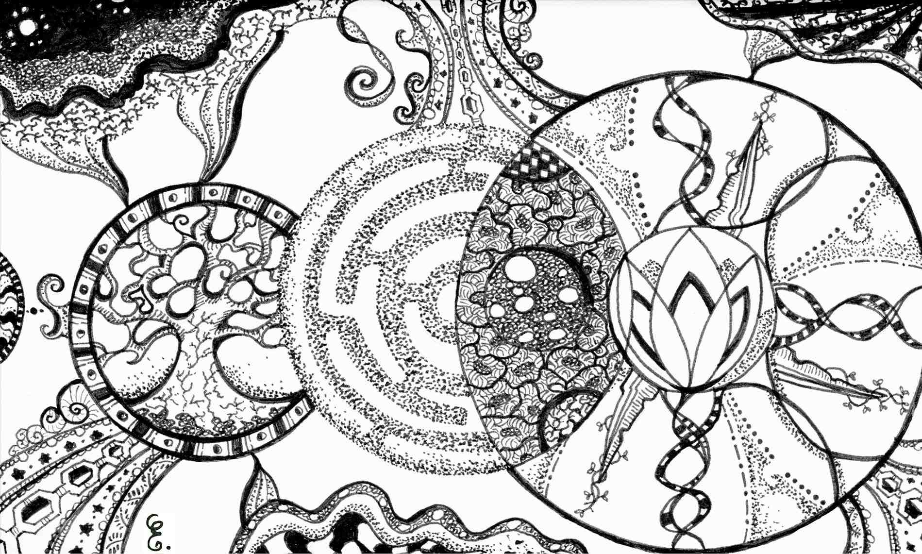 1899x1141 Wallpaper Ocean Waves Drawing Tumblr