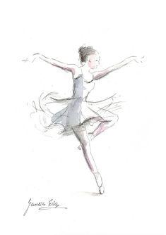 235x334 Ballerina Print, Ballerina Sketch, Print Of Drawing, Picture