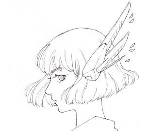 340x270 Daisy Watercolor Art Girl Drawing Manga Art Watercolor