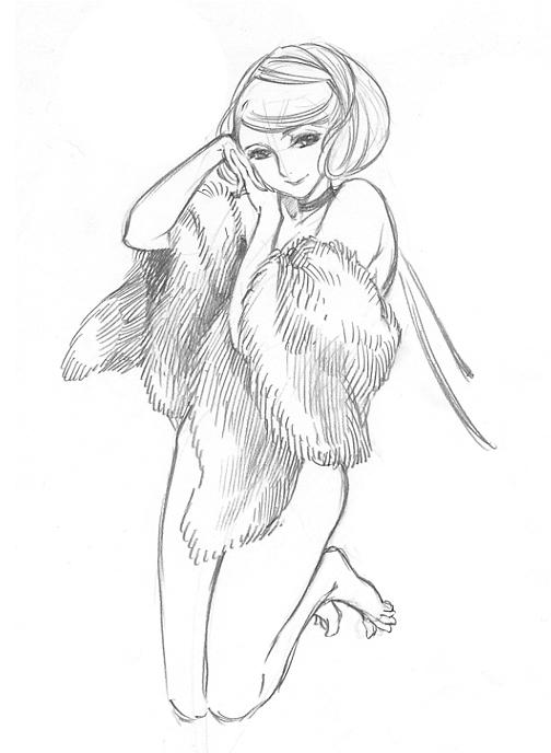 504x688 Pencil Sketch By Ms.kaoru Mori Sketches Sketches