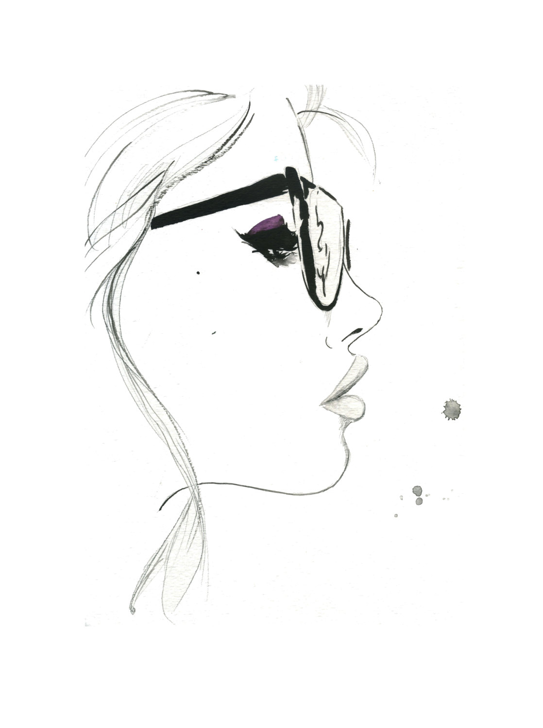 1118x1500 That Nerdy Girl, Print From Original Watercolor And Pen Fashion