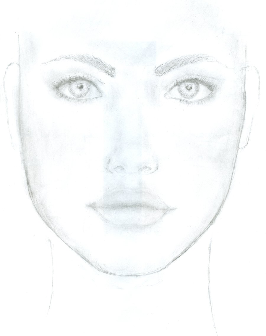 900x1135 Pictures Girl Drawing Face Easy,