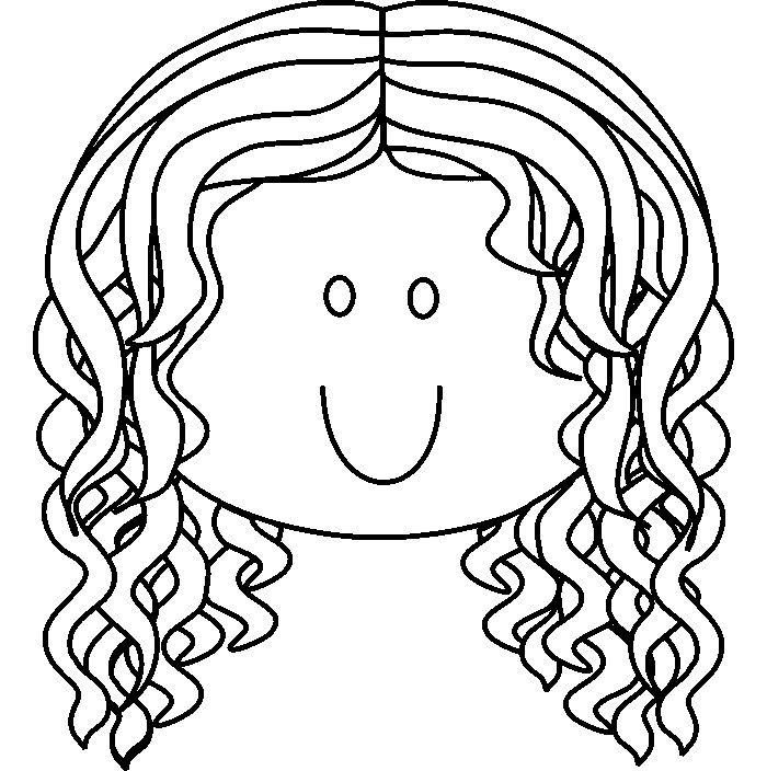 Girl faces drawing at free for personal for Coloring pages of girls faces