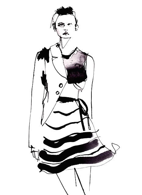 Girl Fashion Drawing