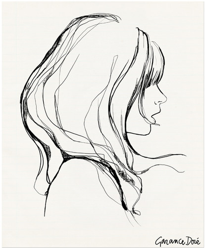 414x499 Art,black And White,drawing,face,fashion,garance Dore,sketch,pen