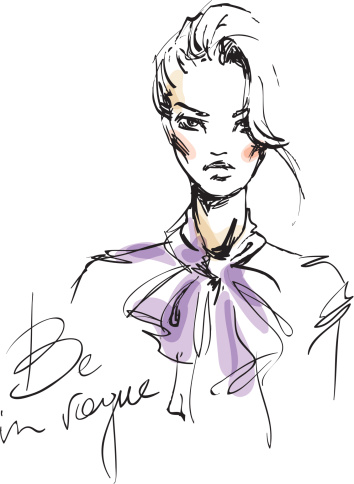 354x484 Be In Vogue Fashion Face Illustration, Fashion