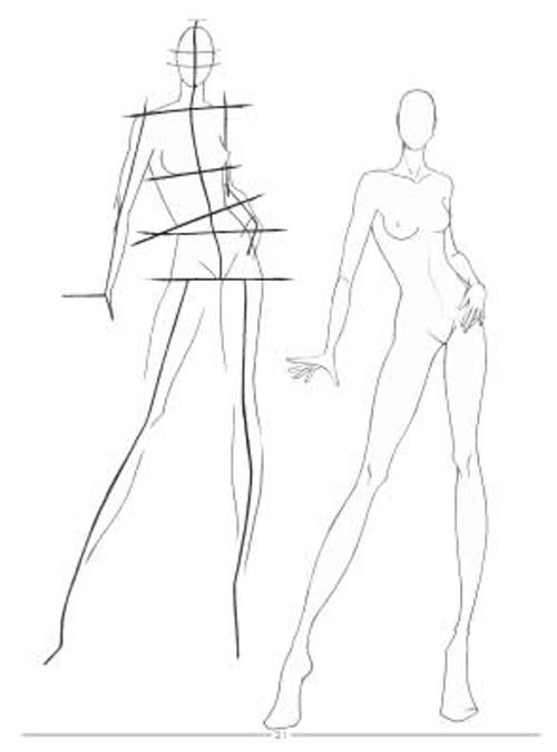 500x675 Fashion Sketches Body On How To Draw For Beginner Fashions Show