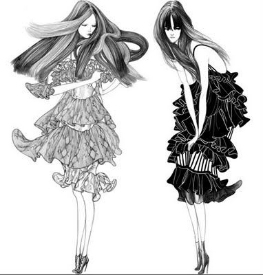 382x400 23 Best Fashion Sketches Images On Fashion Drawings