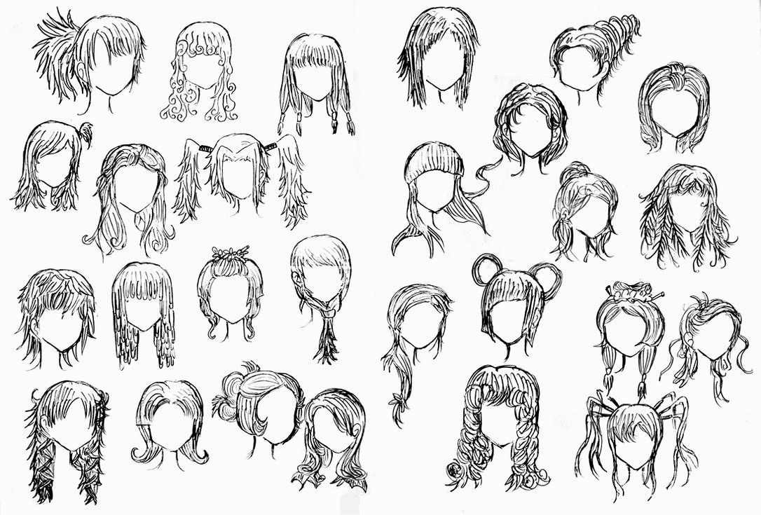 Girl Hairstyle Drawing