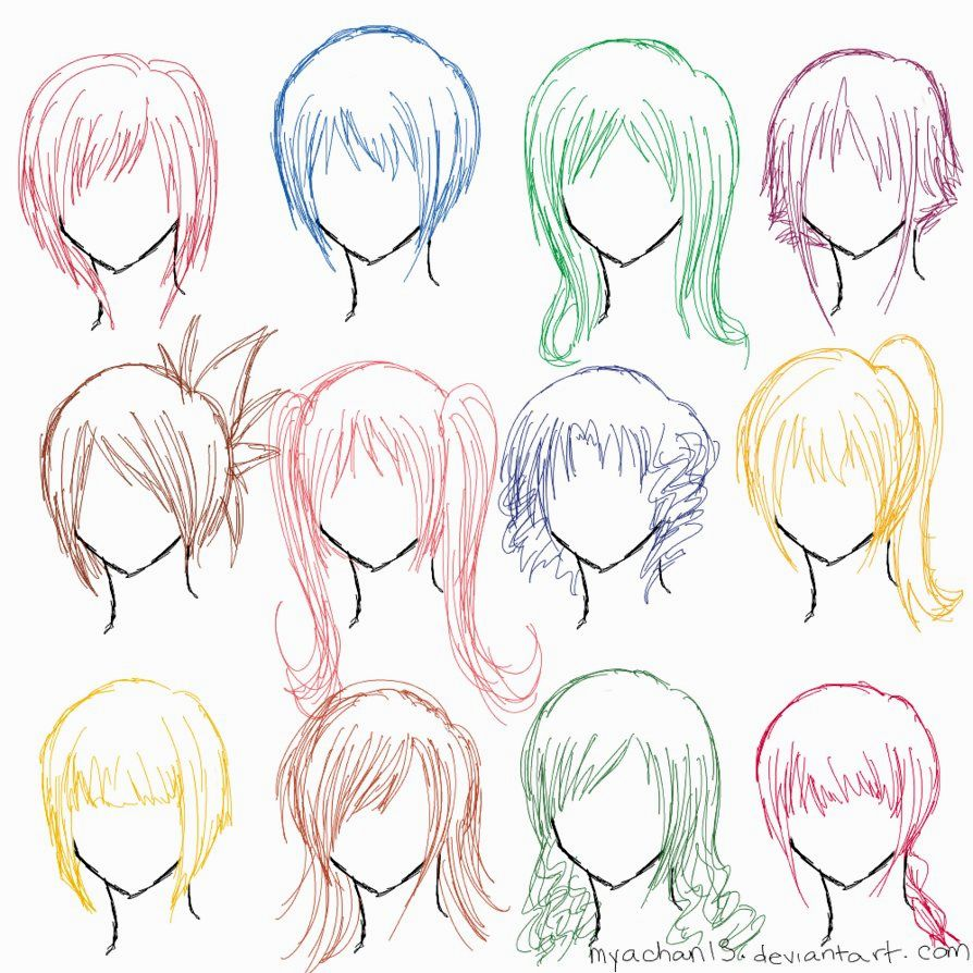 Girl Hairstyle Drawing at GetDrawings | Free download