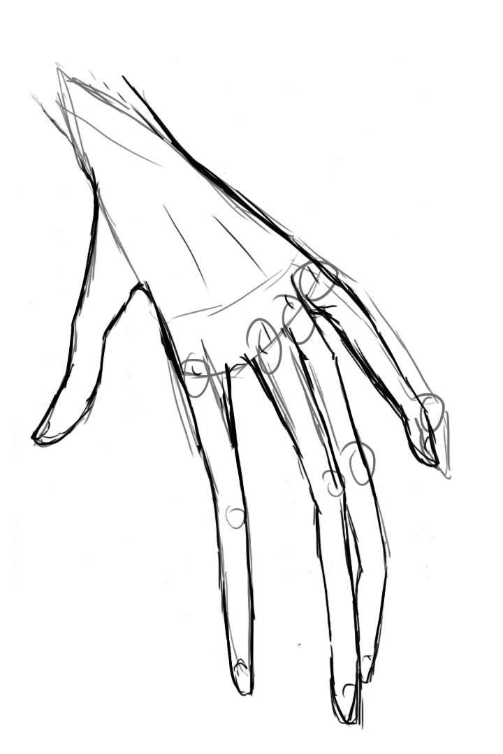 720x1080 Hand Sketch A Pen And A Brush